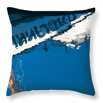 Harbor Blue Throw Pillow