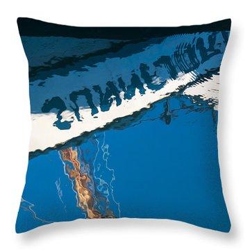 Harbor Blue Throw Pillow