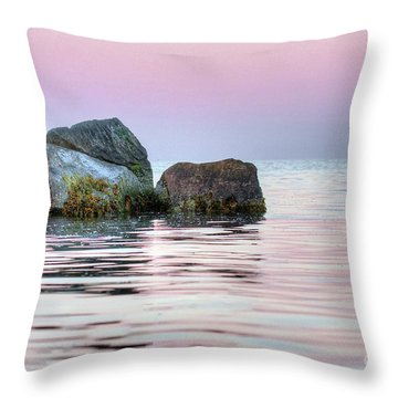 Harbor Breakwater Throw Pillow