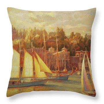 Harbor Faire Throw Pillow