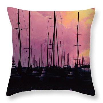 Harbor Glow Throw Pillow