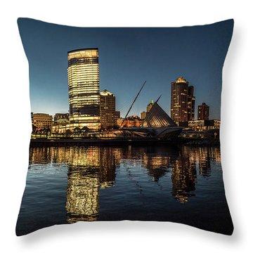 Harbor House View Throw Pillow by Randy Scherkenbach