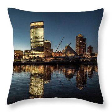 Throw Pillow featuring the photograph Harbor House View by Randy Scherkenbach