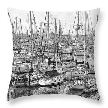 Throw Pillow featuring the digital art Harbor II by Visual Artist Frank Bonilla
