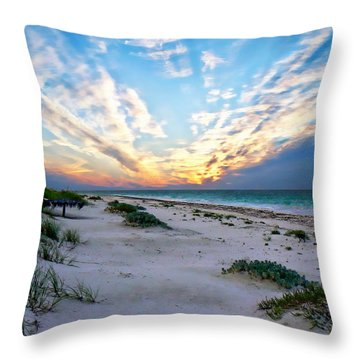 Harbor Island Sunset Throw Pillow
