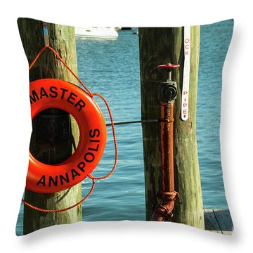 Harbor Life Preserver Throw Pillow