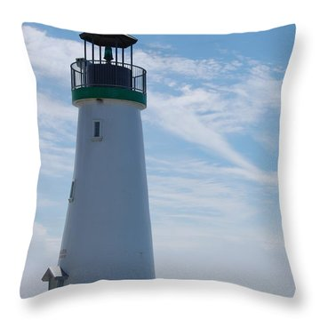 harbor lighthouse Santa Cruz Throw Pillow