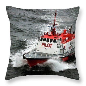 Harbor Master Pilot Throw Pillow by Allen Carroll