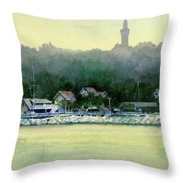 Harbor Master, Port Washington Throw Pillow