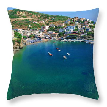Harbor Of Bali Throw Pillow