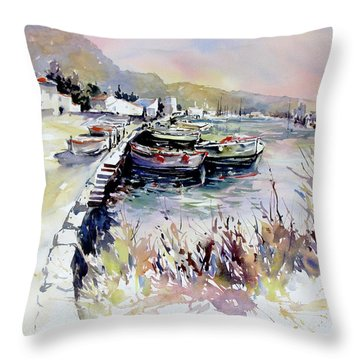 Harbor Shapes Throw Pillow