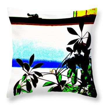 Harbor Side Window Throw Pillow