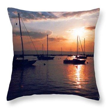 Harbor Sunrise Throw Pillow