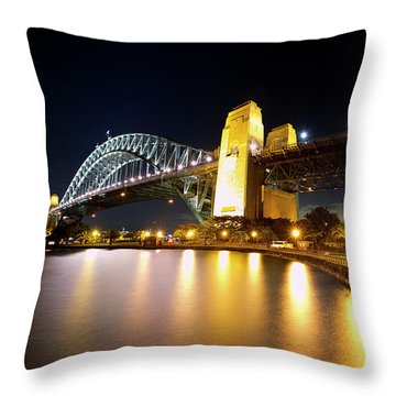 Harbour Fence Throw Pillow