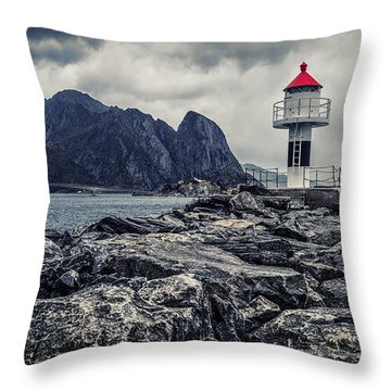 Harbour Lighthouse Throw Pillow