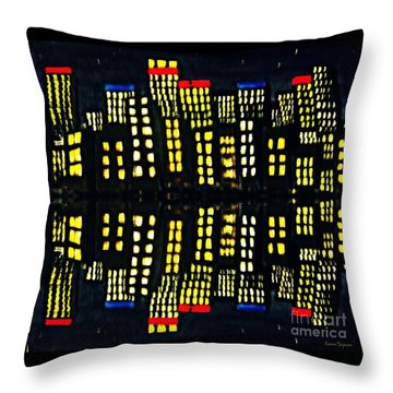 Harbour Lights Reflected 1 Throw Pillow by Leanne Seymour