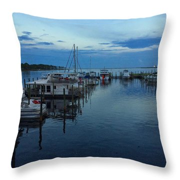 Harbour Nights Throw Pillow