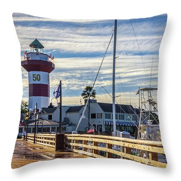 Harbour Town Lighthouse Throw Pillow