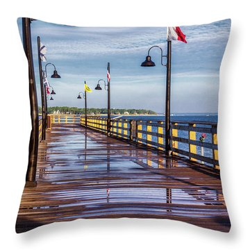 Harbour Town Pier Throw Pillow