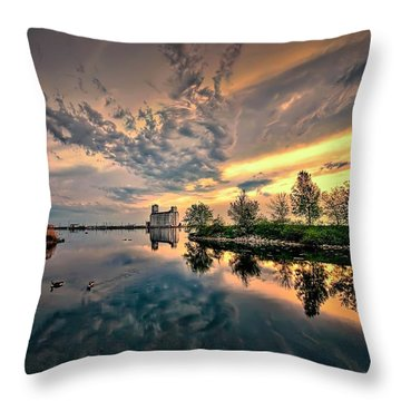 Harbour View Park Throw Pillow