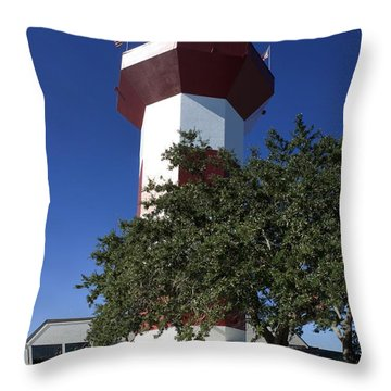 Harbourtown Lighthouse Throw Pillow by Thomas Marchessault