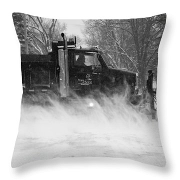 Throw Pillow featuring the photograph Hard At Work by Viviana  Nadowski