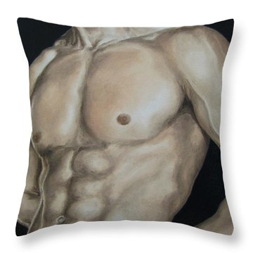 Hard Body Throw Pillow