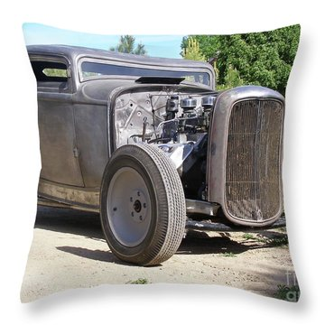 Throw Pillow featuring the painting Hard Chop by Alan Johnson
