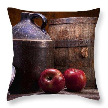 Hard Cider Still Life Throw Pillow by Tom Mc Nemar