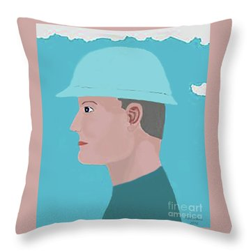 Hard Hat Oil Field Throw Pillow by Fred Jinkins