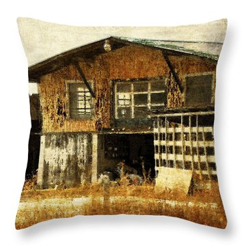 Hard Labor Throw Pillow by Lois Bryan