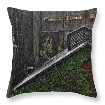 Hard Rain Throw Pillow