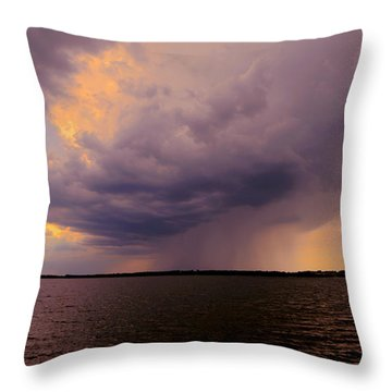 Hard Rain's Gonna Fall Throw Pillow by Lowlight Images