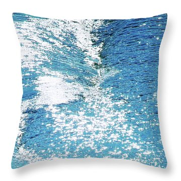 Hard Water Abstract Throw Pillow by Menega Sabidussi