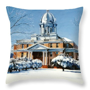 Hardin County Courthouse Throw Pillow