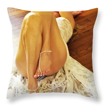 Throw Pillow featuring the photograph Hardwood by Marat Essex