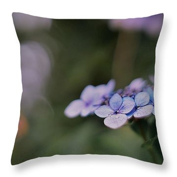 Hardy Blue Throw Pillow
