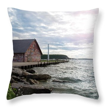 Throw Pillow featuring the photograph Hardy Gallery by Joel Witmeyer
