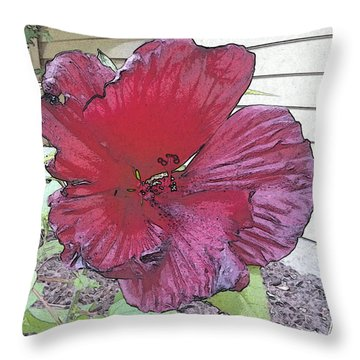 Hardy Hibiscus Throw Pillow