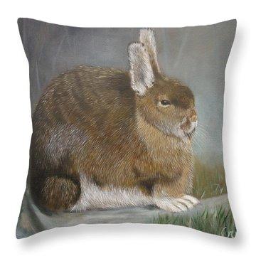 Hare Throw Pillow by Jean Yves Crispo