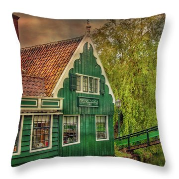 Throw Pillow featuring the photograph Haremakerij At The Brook by Hanny Heim