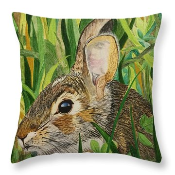 Hare's Breath Throw Pillow