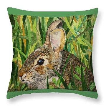 Hare's Breath Throw Pillow