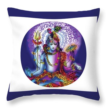 Hari Hara Krishna Vishnu Throw Pillow