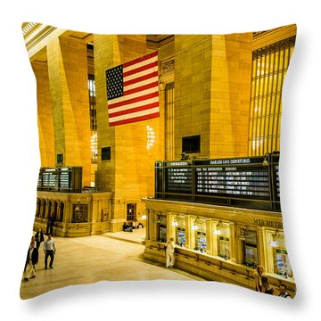 Throw Pillow featuring the photograph Grand Central Pride by M G Whittingham