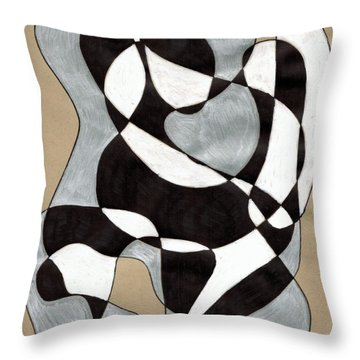 Harlequin Abtracted Throw Pillow