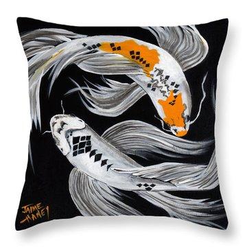 Harlequin Dance Throw Pillow