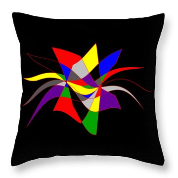 Harlequin Flower Throw Pillow by Methune Hively