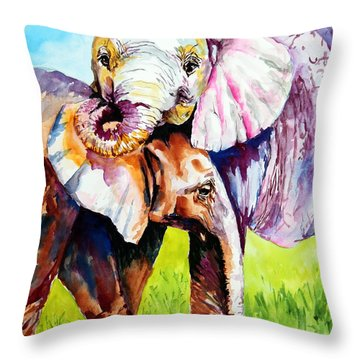 Harley And Bentley Throw Pillow by Maria Barry