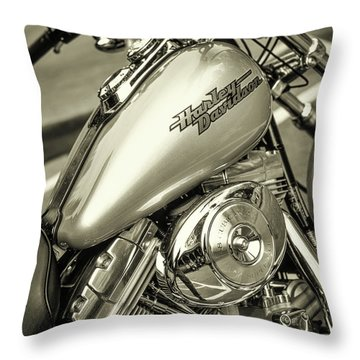 Throw Pillow featuring the photograph Harley At Bentley's by Samuel M Purvis III